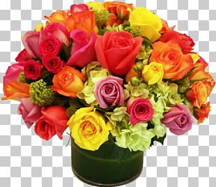 Flower Bouquet Floristry Rose Floral Design PNG