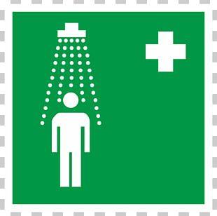 Douche Fixe De Premiers Secours Shower Sign Emergency Safety PNG