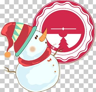 Christmas Snowman Illustration PNG