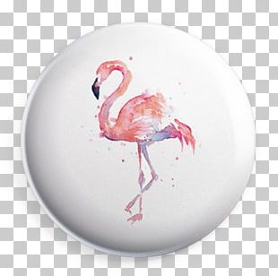 Flamingo Watercolor Painting Art Canvas Print PNG