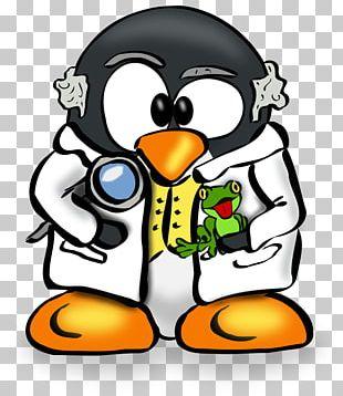 Penguin Tux Linux User Group Scientist PNG