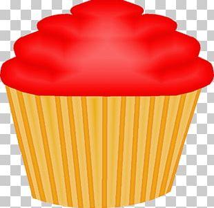 Cupcake Red Velvet Cake Muffin PNG