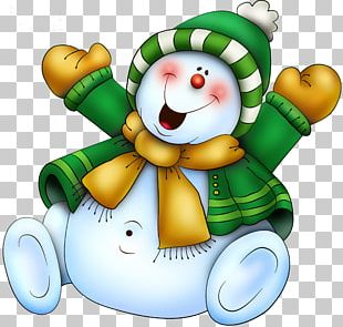 Christmas Candy Cane Snowman PNG