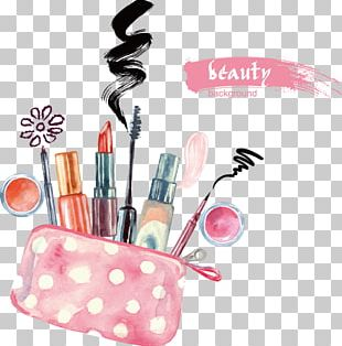 Lipstick Cosmetics Watercolor Painting Eye Shadow PNG