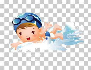 Swimming Child Girl PNG