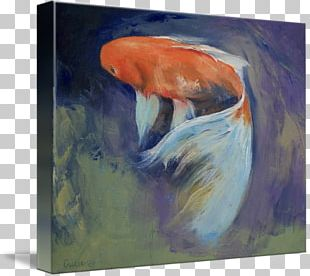 Koi Canvas Print Watercolor Painting PNG