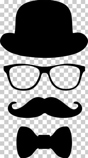 Moustache Top Hat Glasses Bow Tie PNG