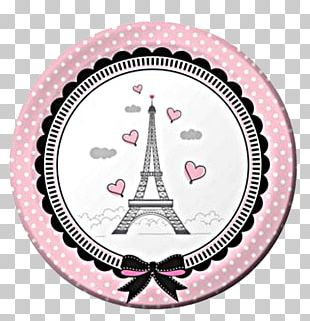 Eiffel Tower Party Hat Birthday Centrepiece PNG