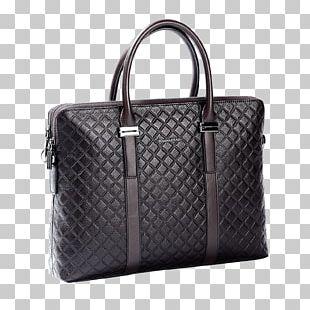 Briefcase Tote Bag Leather Handbag PNG