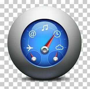 Alarm Clock Electric Blue Sphere PNG