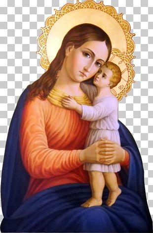 Mary Nazareth Eleusa Icon Madonna Child Jesus PNG