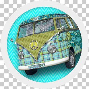 Colour Paper Retro Style Car PNG