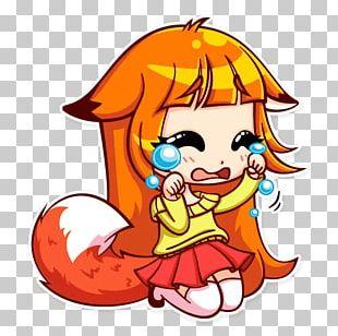 Telegram Sticker Alice The Fox VKontakte PNG