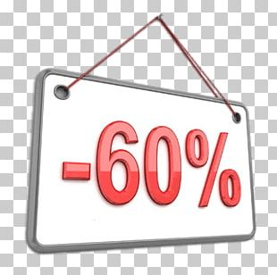60% Discount Board PNG