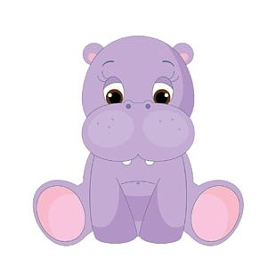 Hippopotamus Baby Hippos Cartoon Cuteness PNG