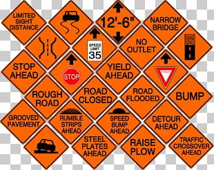 Architectural Engineering Sign Detour Font PNG