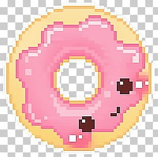 Pixel Art Donuts Kavaii PNG