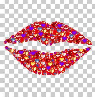 Hugs And Kisses Lip Romance PNG