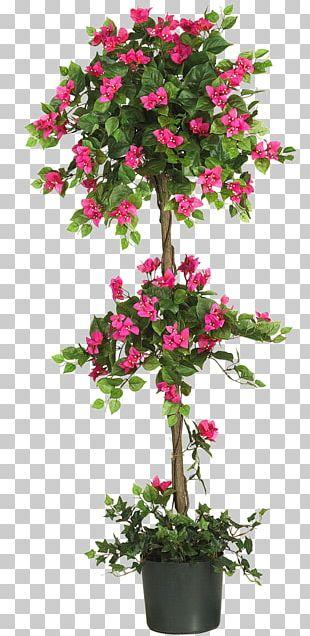 Albizia Julibrissin Tree Bougainvillea Topiary Artificial Flower PNG