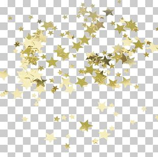 Star Gold Confetti Party Bride PNG