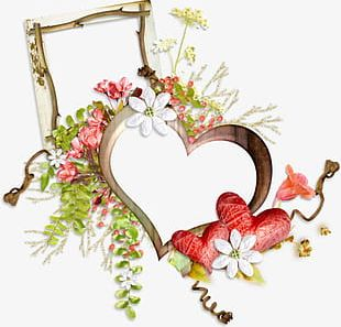 Flowers Love Wood Frame Diagram Prospects PNG