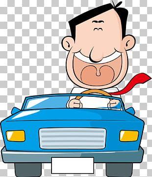 Driver Cartoon Illustration PNG
