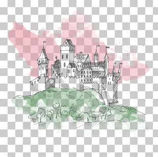 Castle Drawing Sketch PNG