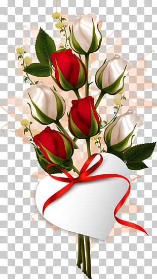 Flower Bouquet Valentines Day Rose PNG