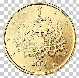 Italy Italian Euro Coins 50 Cent Euro Coin 1 Cent Euro Coin PNG