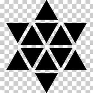 Symbol Hexagon Polygon Geometry Star Of David PNG