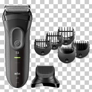 Hair Clipper Braun Series 3 Shave&Style 3010BT Braun Series 3 3050cc Electric Razors & Hair Trimmers PNG