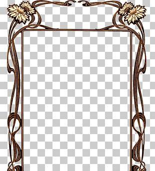 Borders And Frames Art Nouveau Art Deco PNG
