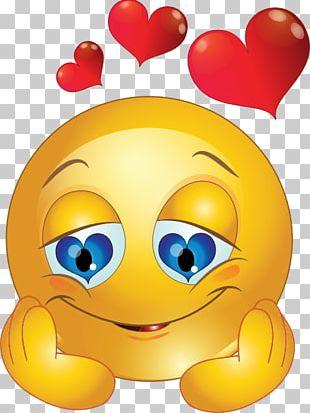 Smiley Emoticon Heart Love PNG