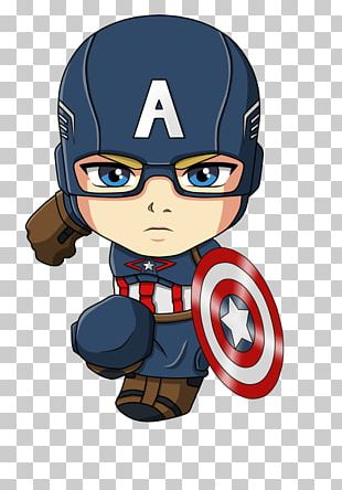 Captain America Iron Man Spider-Man Cartoon Chibi PNG