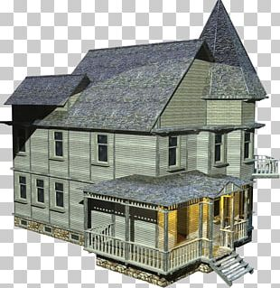 English Country House Rendering PNG