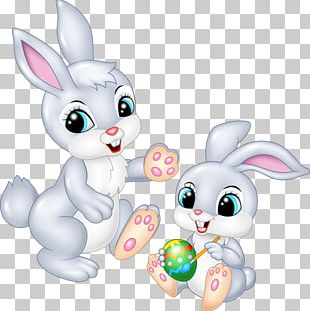 Easter Bunny Painting Cartoon PNG