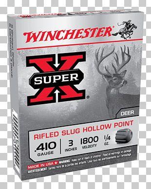 Shotgun Slug Ammunition Winchester Repeating Arms Company .410 Bore Shotgun Shell PNG