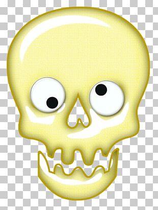 Calavera Day Of The Dead Skull Halloween Bone PNG