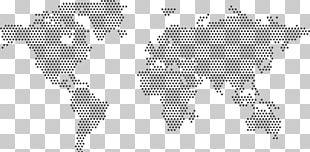 World Map Wood Art PNG