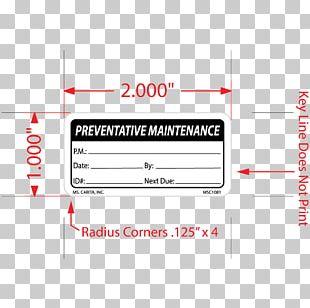 Preventive Maintenance Sticker Label Brand PNG