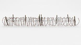 Barbed Wire Fence Wire Obstacle 3D Modeling PNG