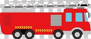 Fire Engine Car Transport Illustration PNG