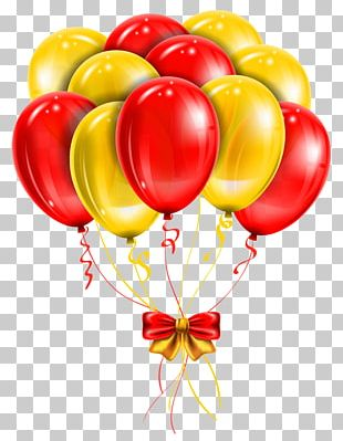 Balloon Red Yellow PNG
