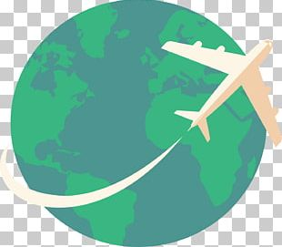 Earth Airplane Encapsulated PostScript PNG