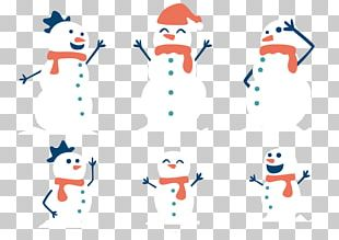 Snowman Family Christmas PNG