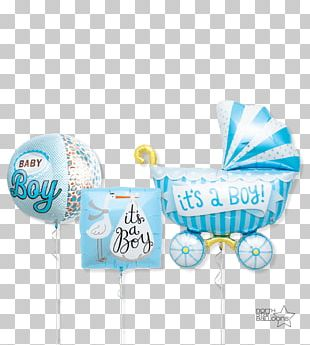 Balloon Party Boy Baby Shower Infant PNG