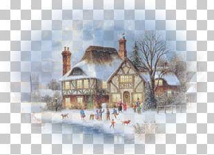 Jack Skellington Santa Claus Landscape Painting Christmas PNG