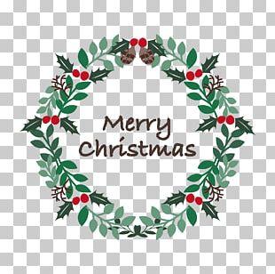 Christmas Tree Wreath Santa Claus Christmas Day Gift PNG