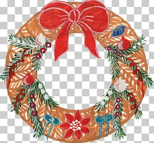 Wreath Christmas Ornament Candy Cane PNG