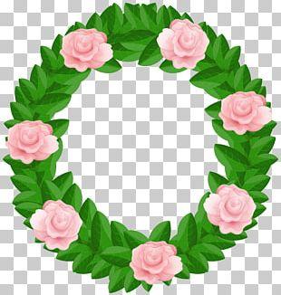 Wreath Garden Roses PNG